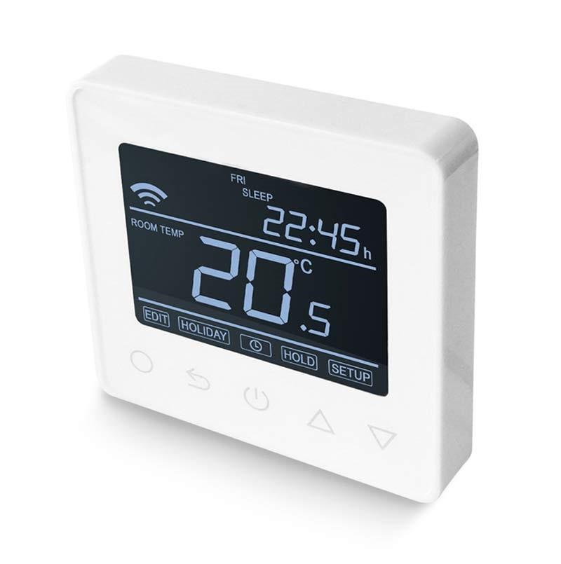 ET-62 digitálny programovateľný Wifi termostat v bielej farbe